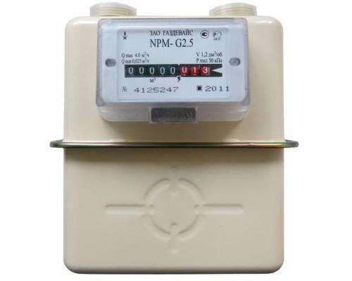 Газовый счетчик NPM G2,5 (1 1/4) левый