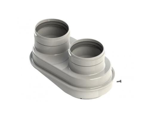Адаптер двухтрубной системы дымоудаления 80/80 мм., Buderus, Настенные котлы Buderus