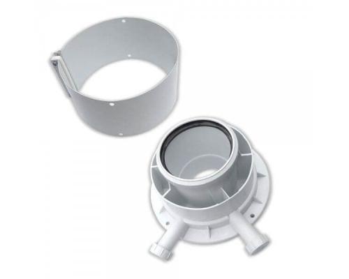 Адаптер для вертикального дымохода 80/125 мм., котлы конденсационные Protherm Рысь К