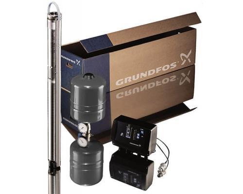 Комплект для поддержания постоянного давления SQE 3-105 с кабелем 80 м, Grundfos