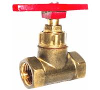 Клапан запорный латунь 15б1п Ру16 Ду25 ВР прямой ТУ РБ 500059277.015-2000 Цветлит