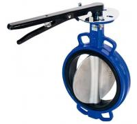 Затвор поворотный тип 015W сталь - н/ж DENDOR Ду100 Ру16