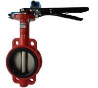 Затвор межфланц. для систем пожаротуш. IP65 тип 017W КРАСНЫЙ с конц. выкл. откр или закр. Ду100 Ру16