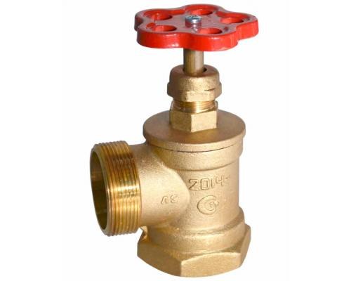 Клапан пожарного крана ПК50 90 град латунь м-ц (Цветлит)