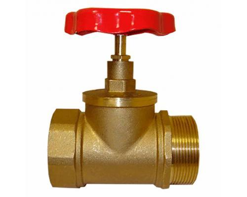 Клапан КПЛП 50-1 (15Б3р) латунный муфта - цапка