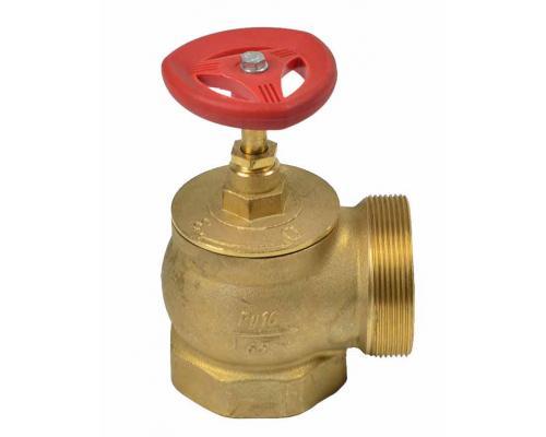 Клапан КПЛМ 50-1 латунный 90° муфта - цапка