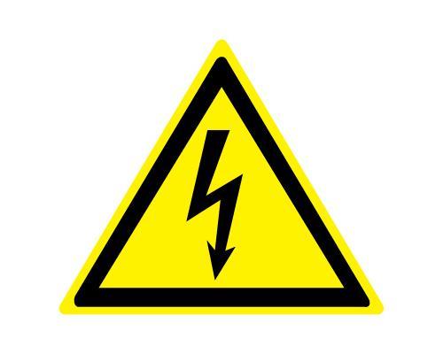 Знак - Опасность поражения эл. током