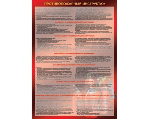 Плакат - Противопожарный инструктаж, А2