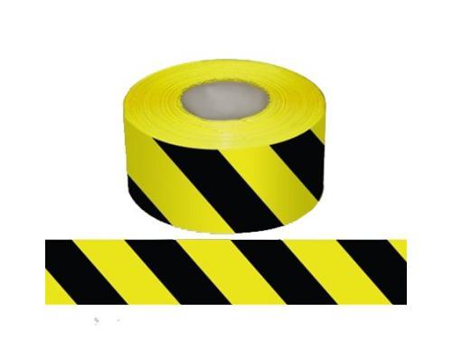 Лента оградительная сигнальная ЛО-500 Черно-Желтая
