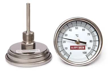 осевой биметаллический термометр